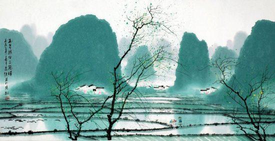 Blue – Lánsè;Green – Lüsè