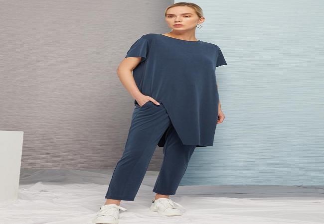 Irregular knit T-shirt
