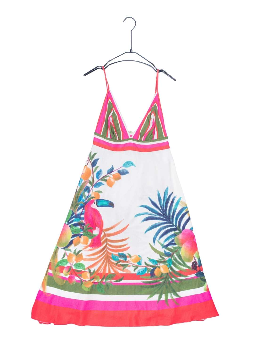 Cotton Linnen Placement A-line Backless Beachwear Dress