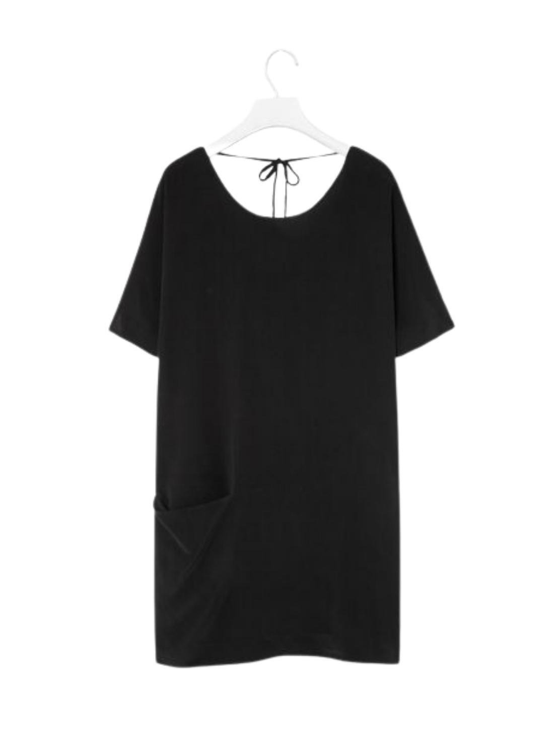 H-Line Short Sleeves 16MM Silk Dress