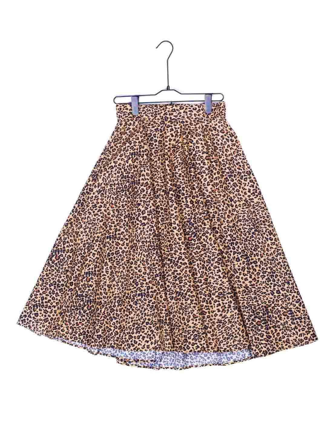 Ladies Cotton Animal Print A line Skirt