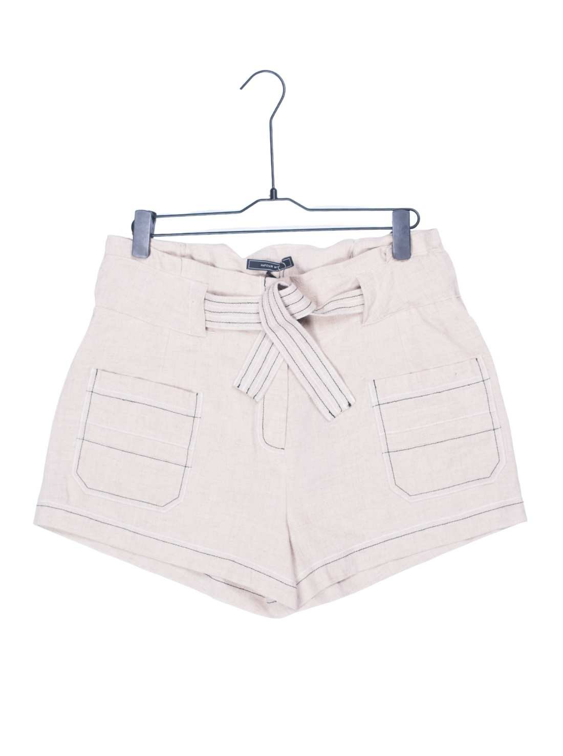 Ladies Cotton Linen Shorts in Nature color without dying