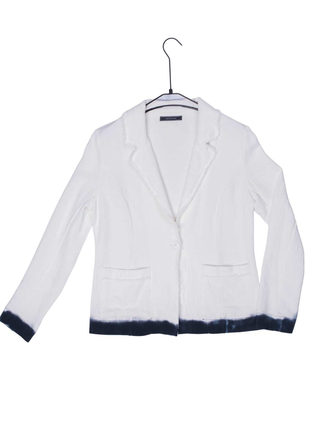 Ladies Heavy Cotton Linen Crepe Blazer Bottom with Dip Dying