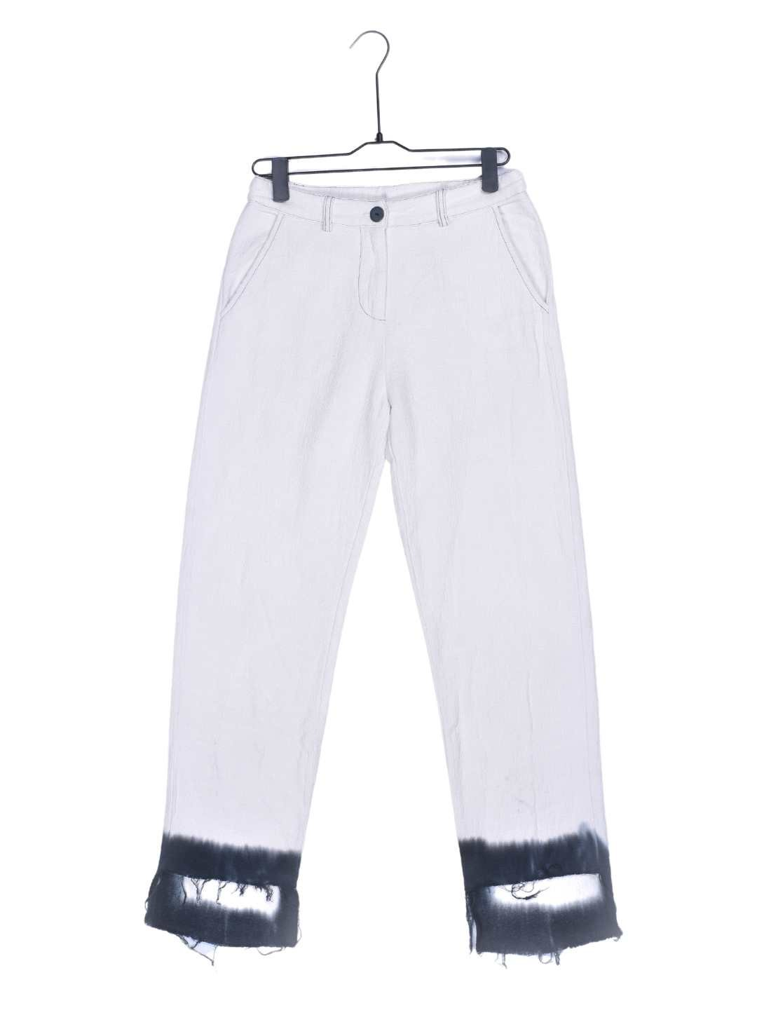 Ladies Heavy Cotton Linen Crepe Pant Bottom with DIp Dying