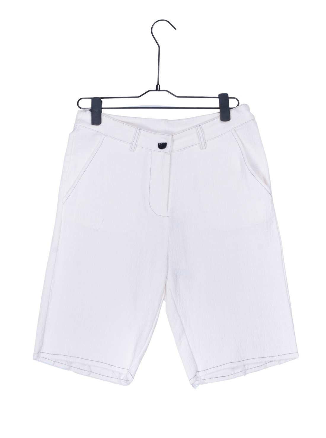 Ladies Heavy Cotton Linen Crepe Shorts