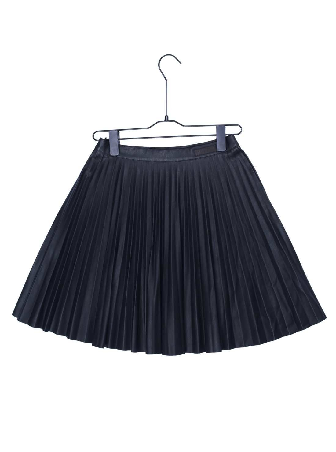 Ladies PU Pleat A-Line Skirt