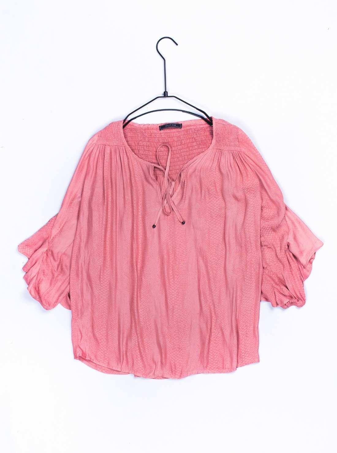 Ladies Polyester Silky Long Sleeves Top