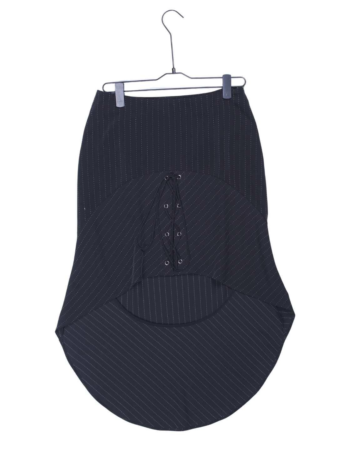 Ladies Stripe Polyester Mix Viscose Skirt