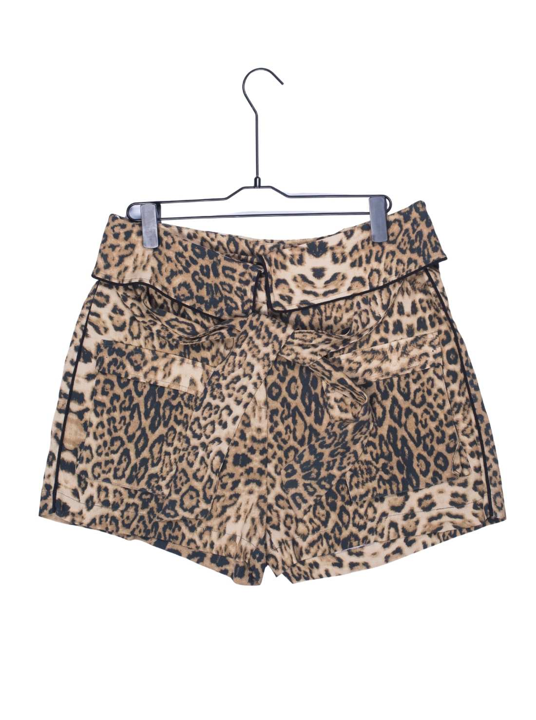 Ladies Viscose All Over Animale Print Short with 4 Pockets