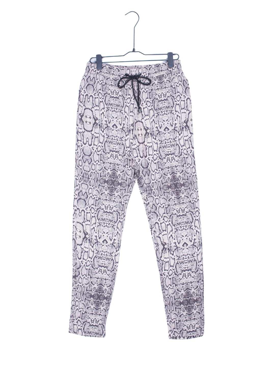 Ladies Viscose Crepe Animal Print Pants