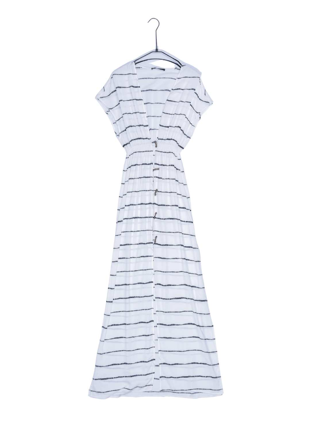 Light Viscose Stripe Print Beachwear Maxi Dress