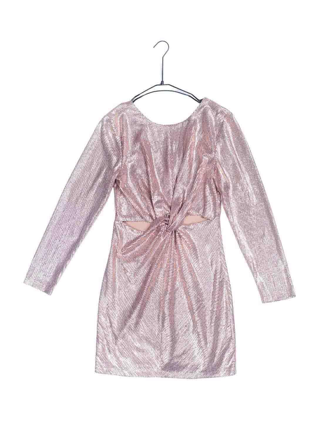 Long Sleeves Blingbling Sequins Dress