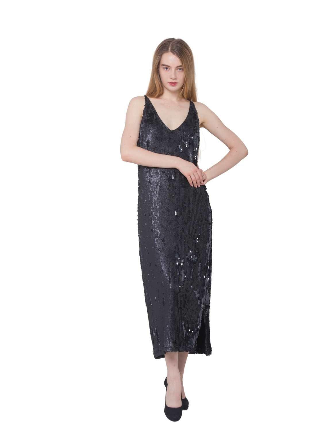 Party Slip Sequins Maxi Dress