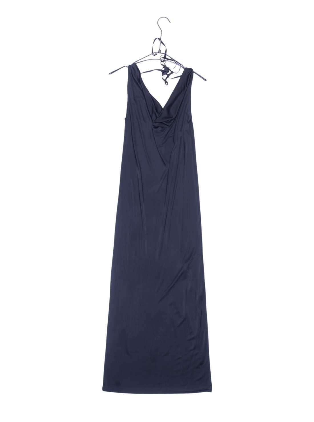 Silk Jersey Sleeveless Sexy Neck Party Dress