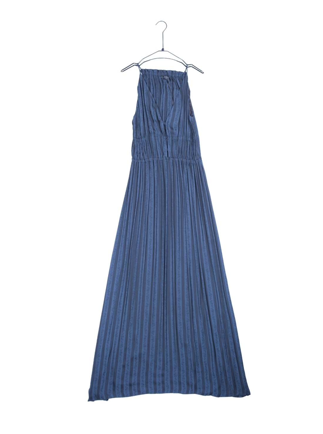 Silky Polyester Jaquard Maxi Party Dress