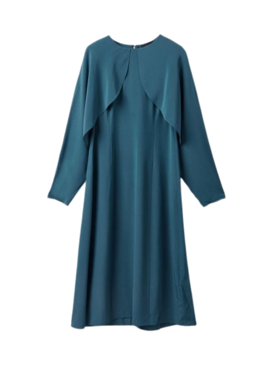 long Sleeve 16mm Silk George Dress