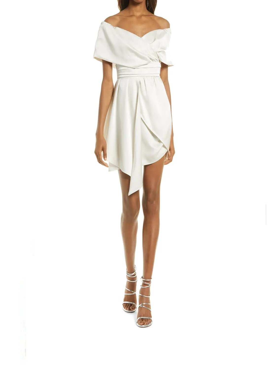 Asymmetric Off the Shoulder Dress