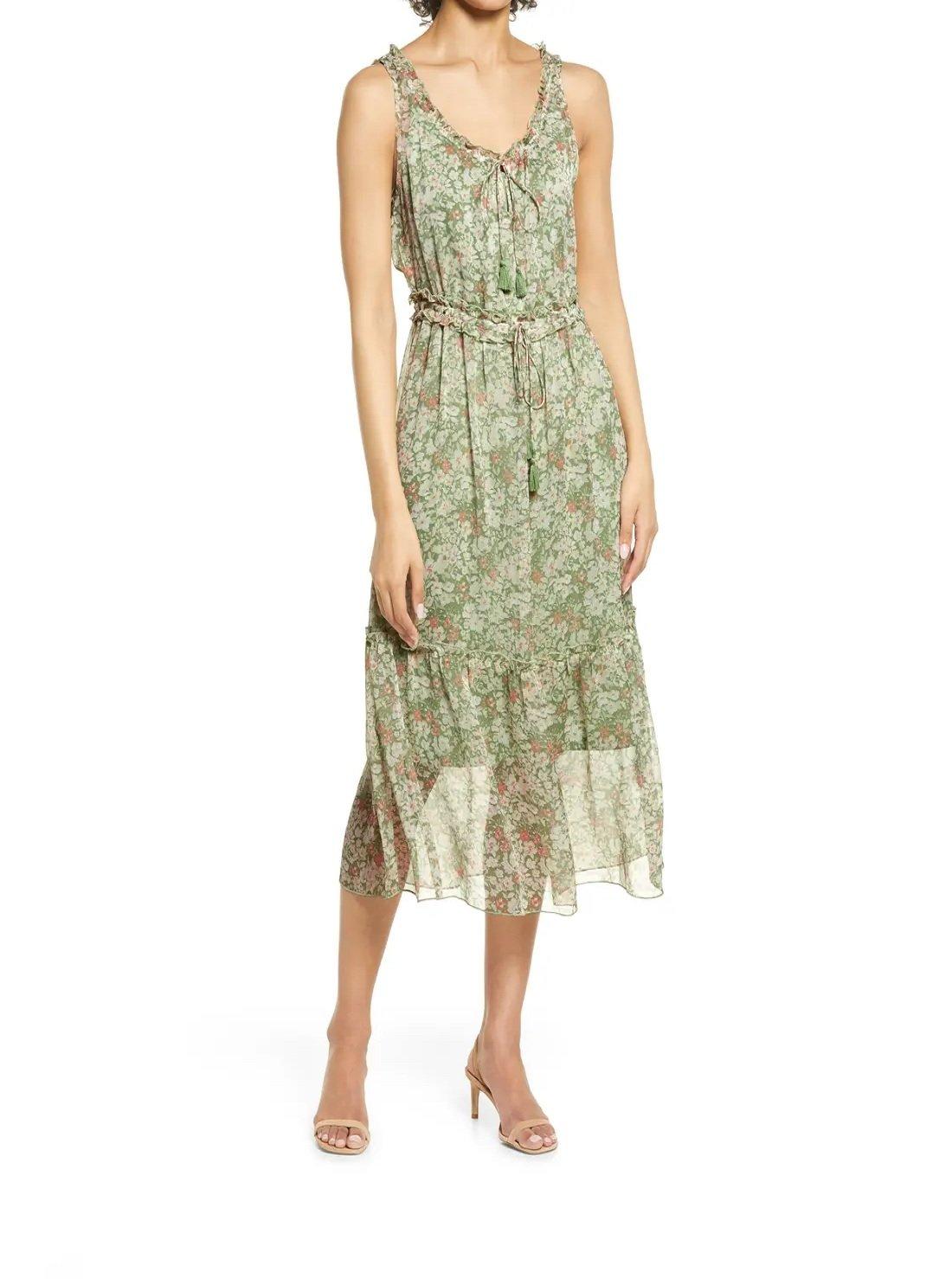 Wholesale Tie Waist Boho Tank Dress