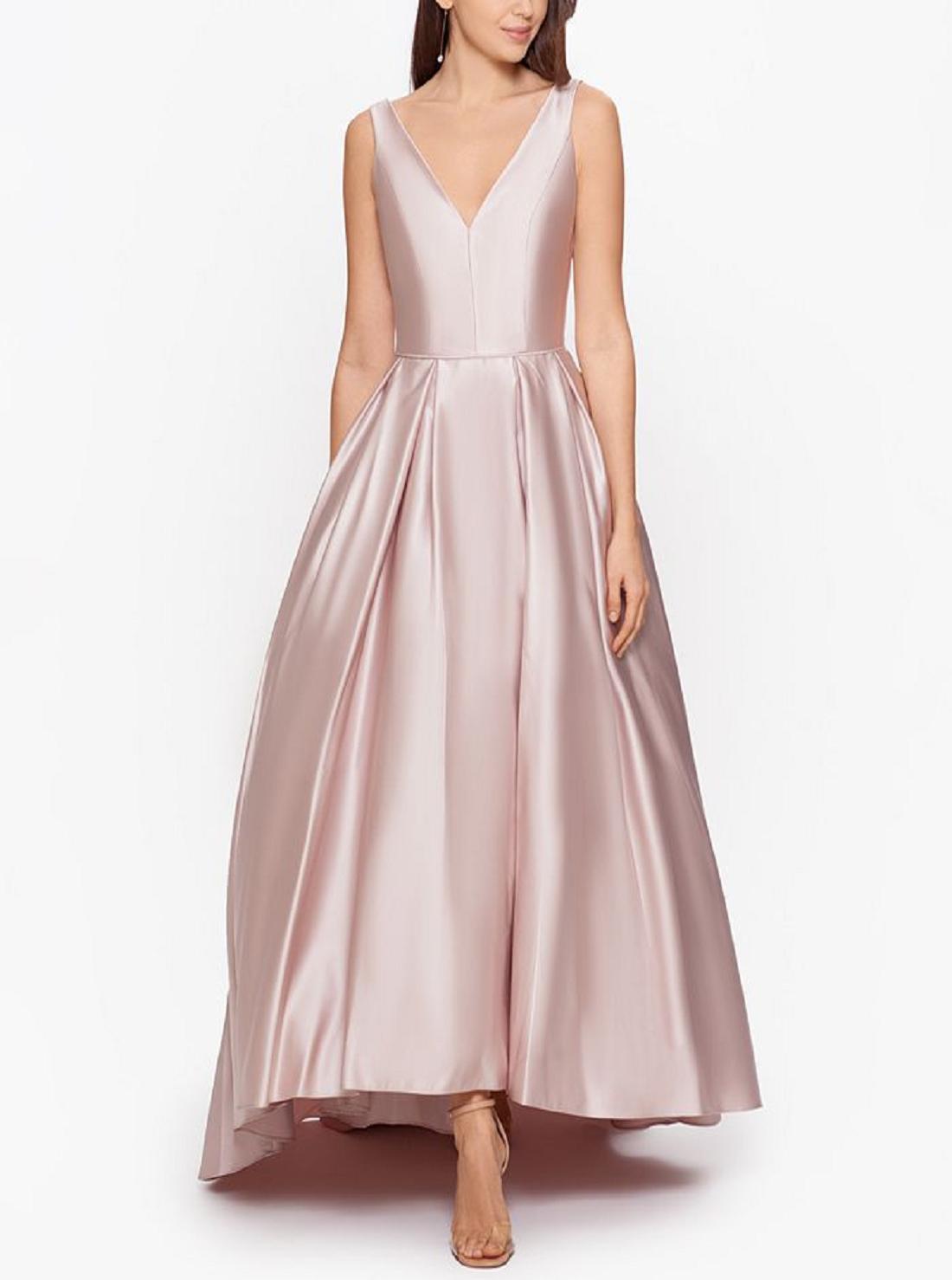 1 Wholesale V-neck Satin Dress
