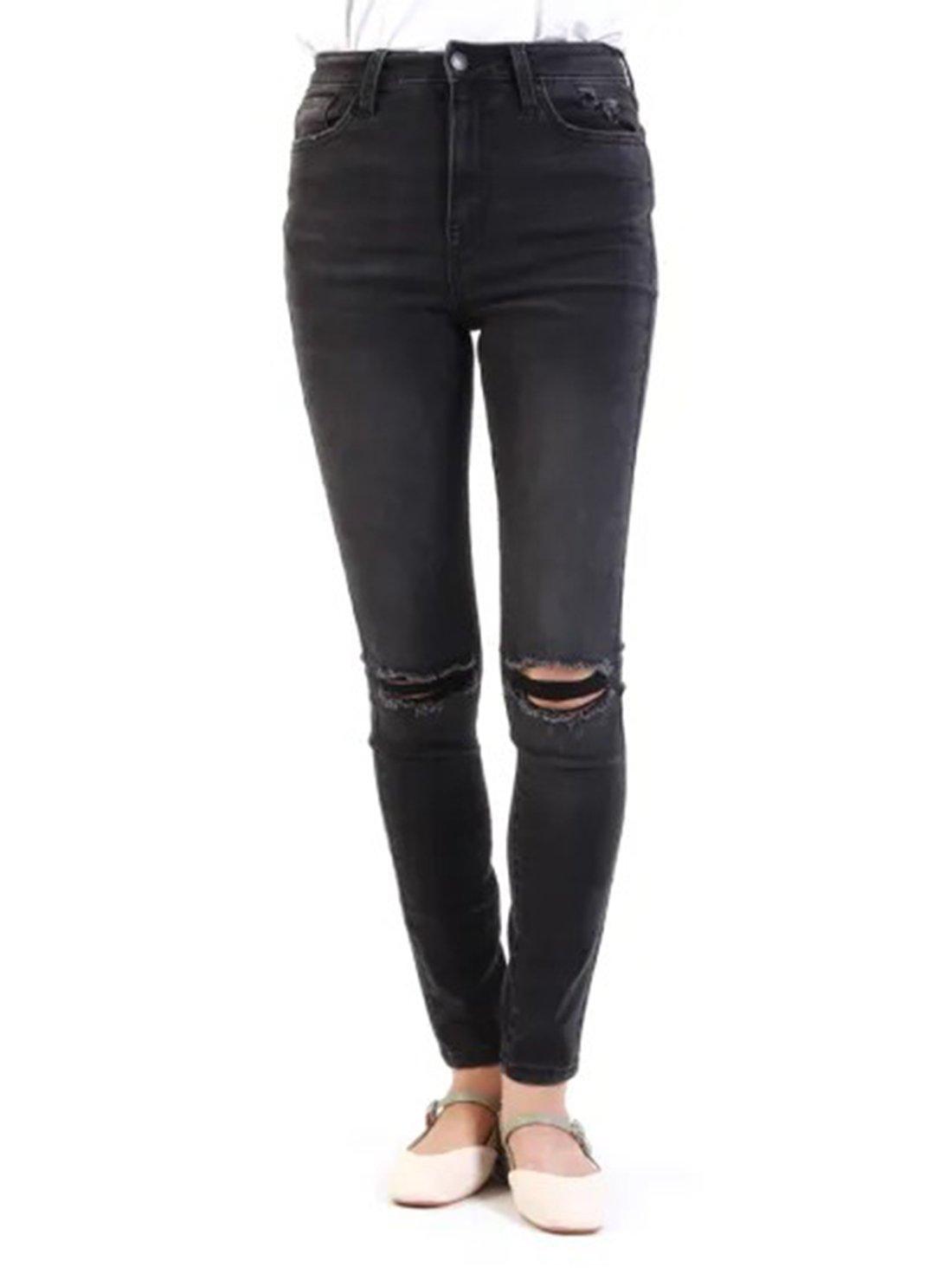 Mid Waist Ladies Jeans