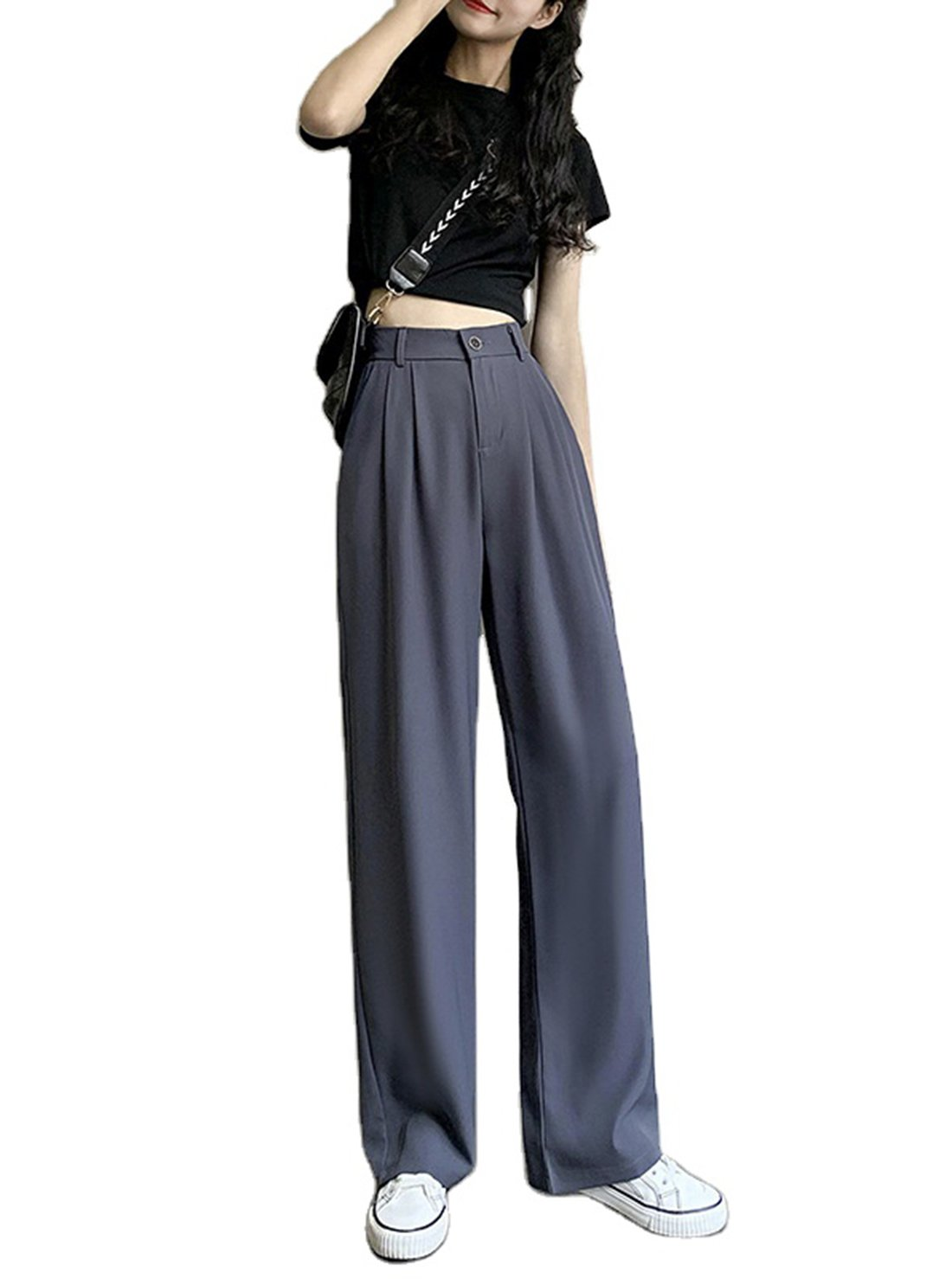 Straight Loose Suit Pant