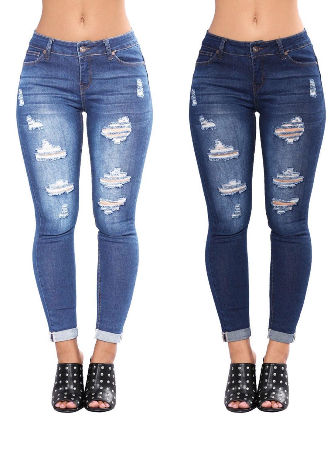 Boyfriend Cotton Jeans Women