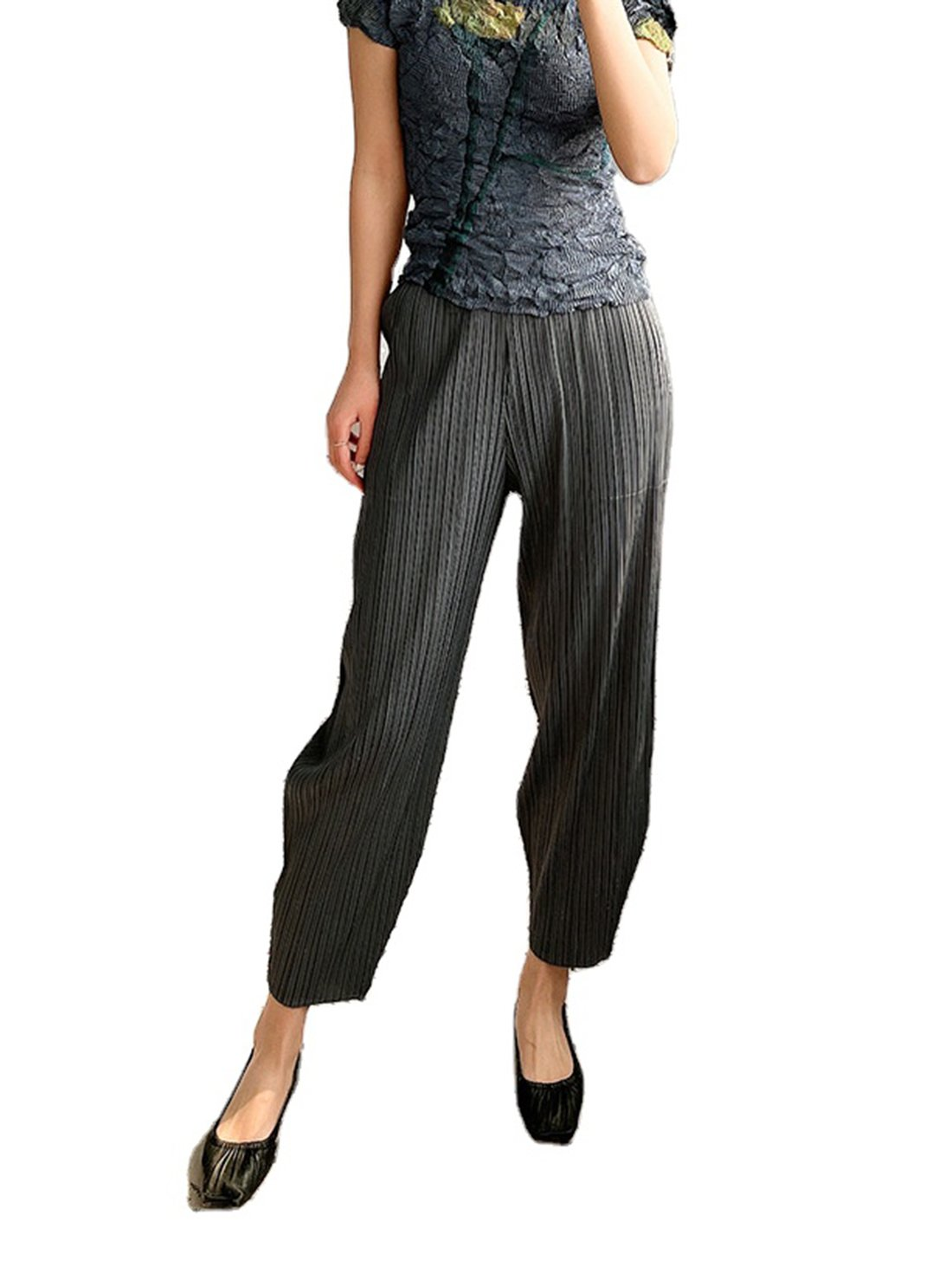 Pleated Long Pant