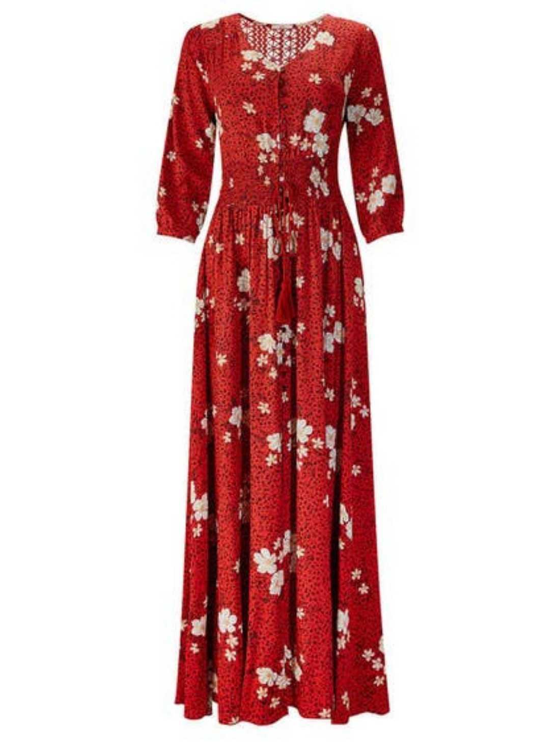 Elegant boho dress
