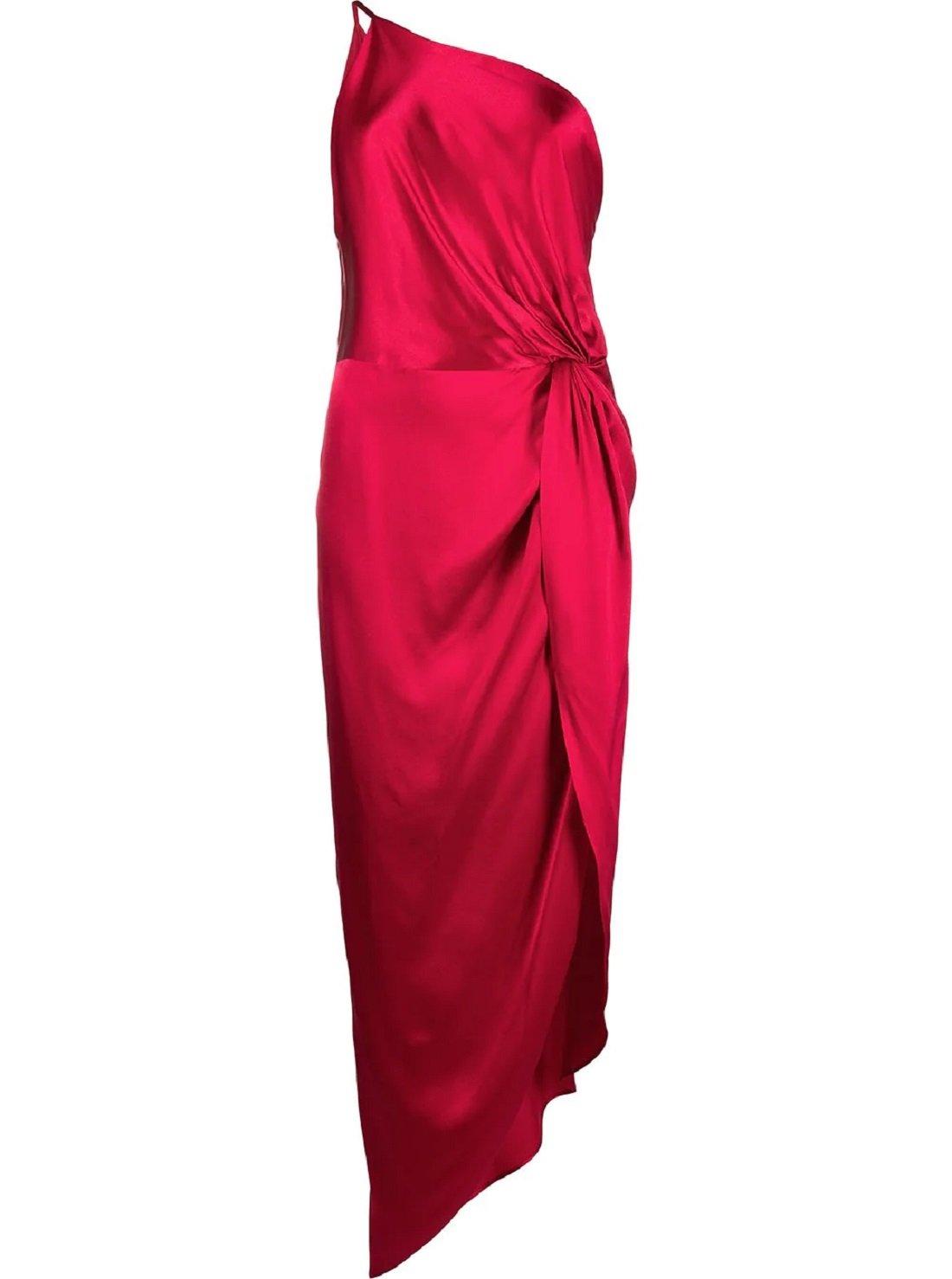 Twist-knot silk dress