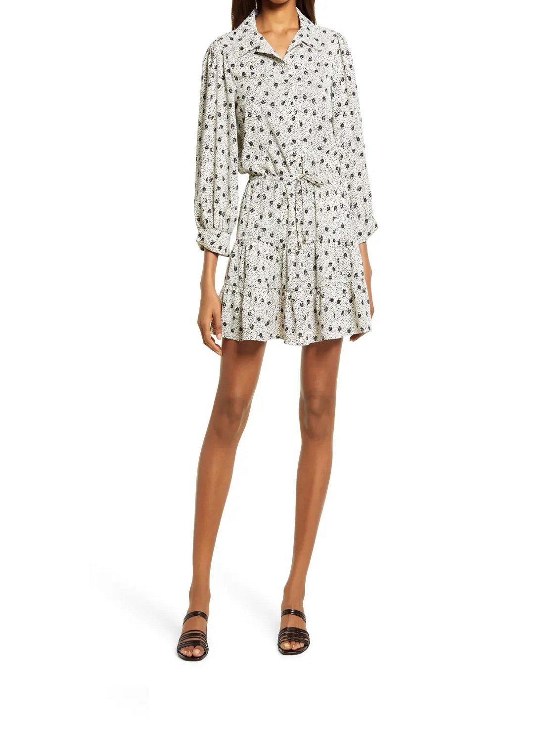 Wholesale Boho Long Sleeve Minidress