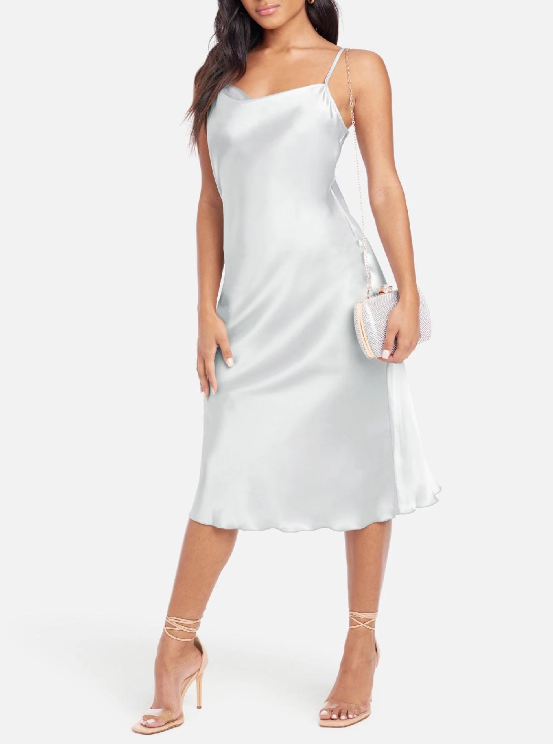 2 Wholesale Casual Satin Dress