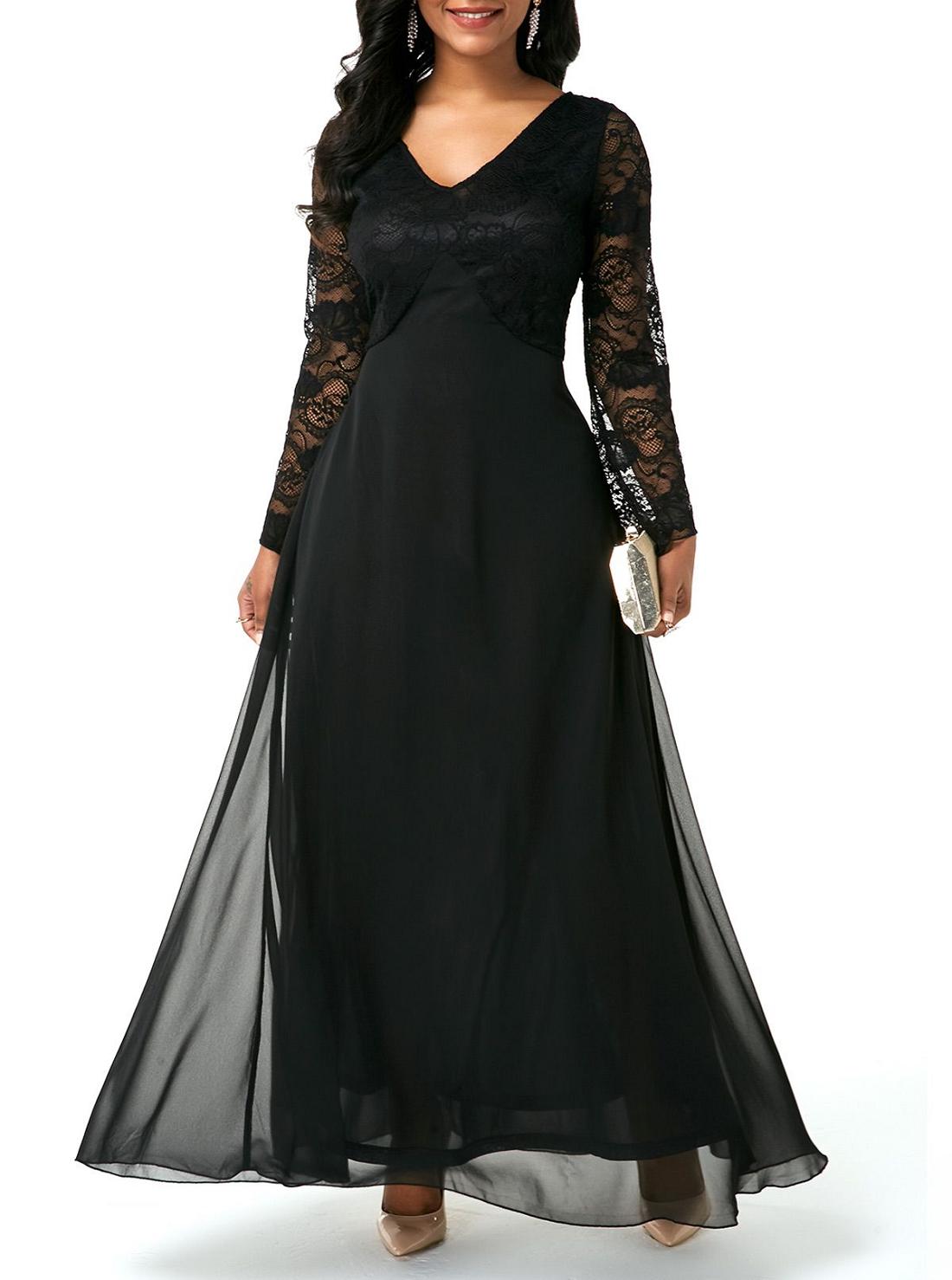 2 Wholesale Chiffon Long Sleeve Dresses
