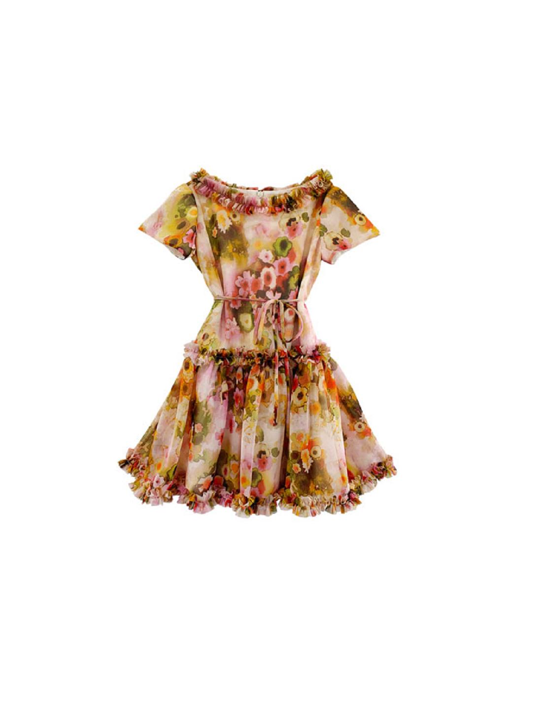 Wholesale Floral Printed Chiffon Dresses