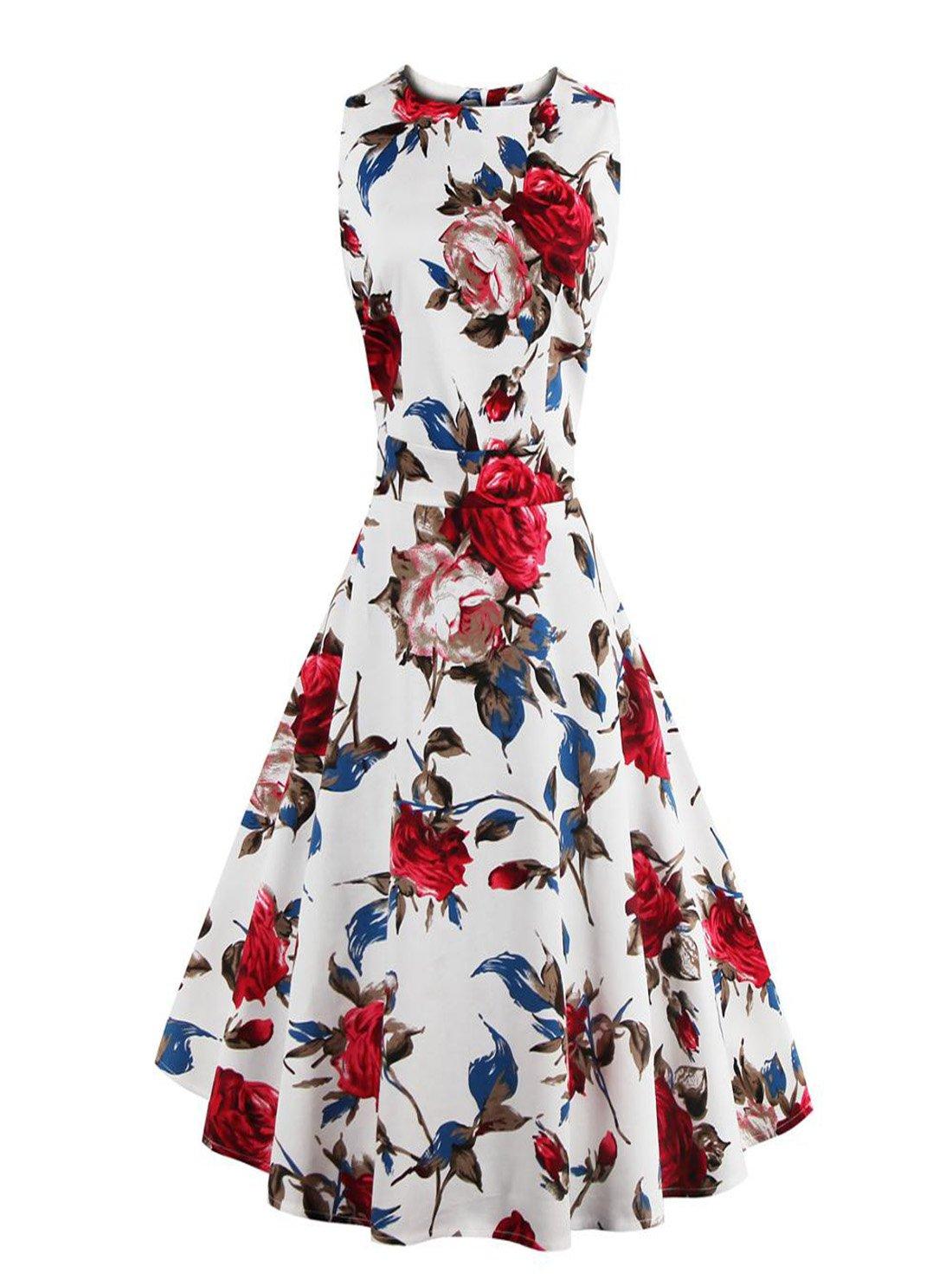 Retro Swing Casual Vintage Dresses