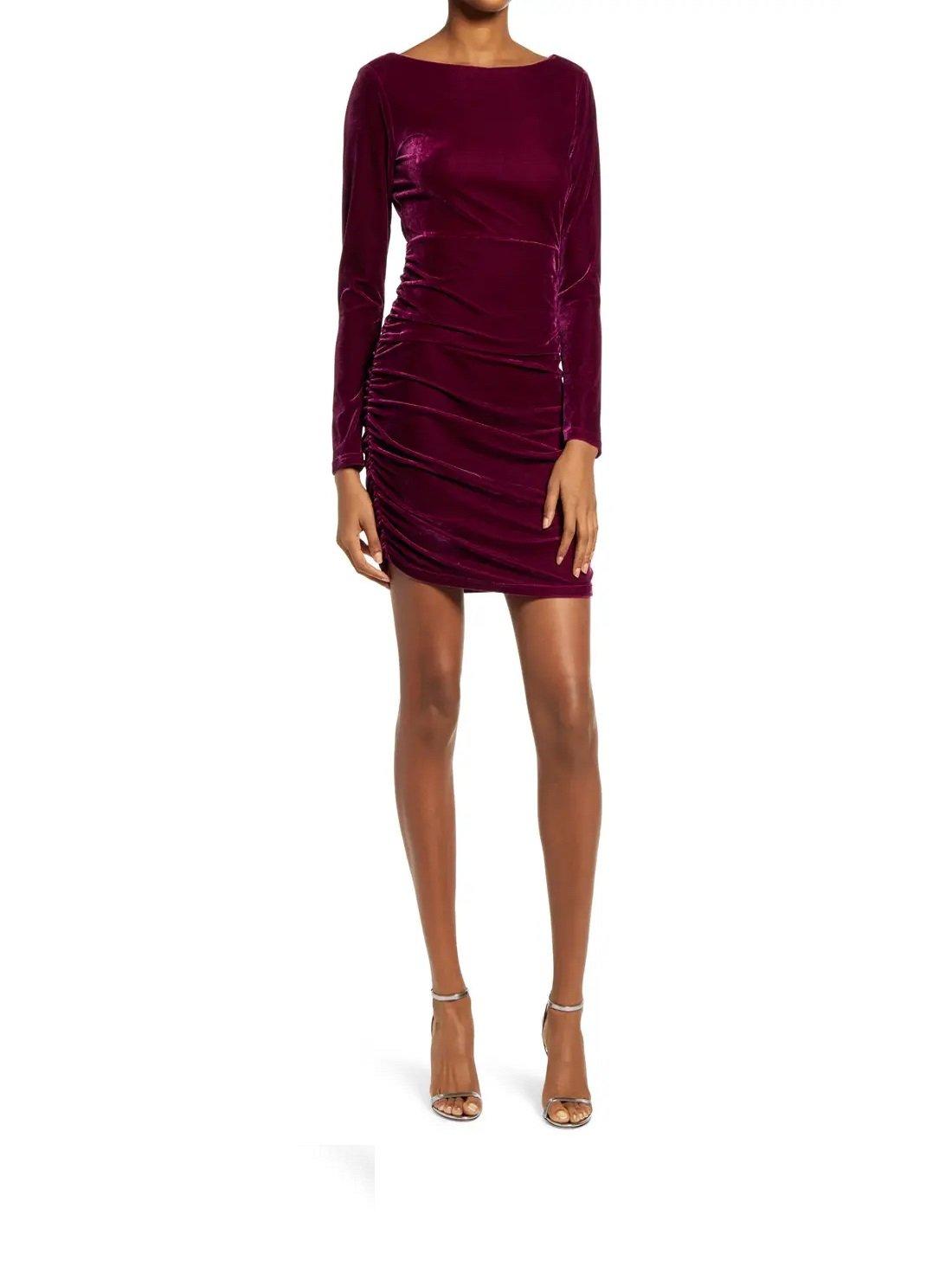 True Heart Velvet Long Sleeve Dress