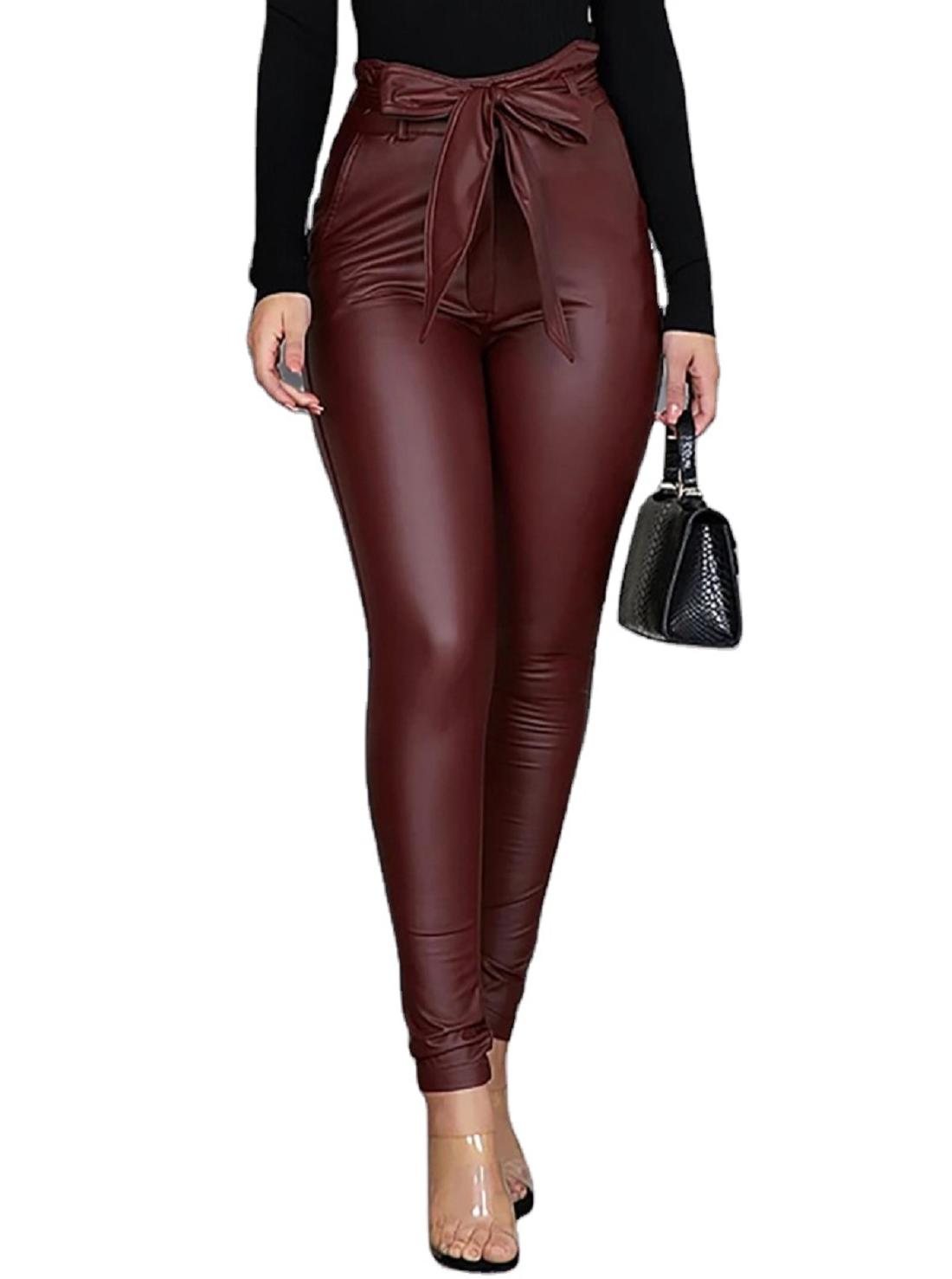 3 Wholesale Faux Leather Pencil Pants