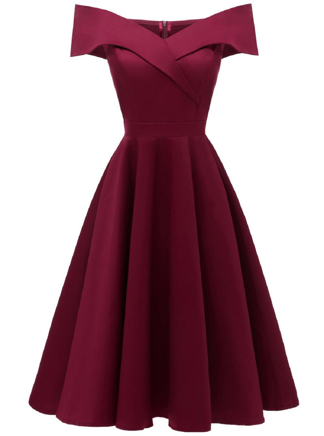 Boat Neck Plus Size Formal Dress