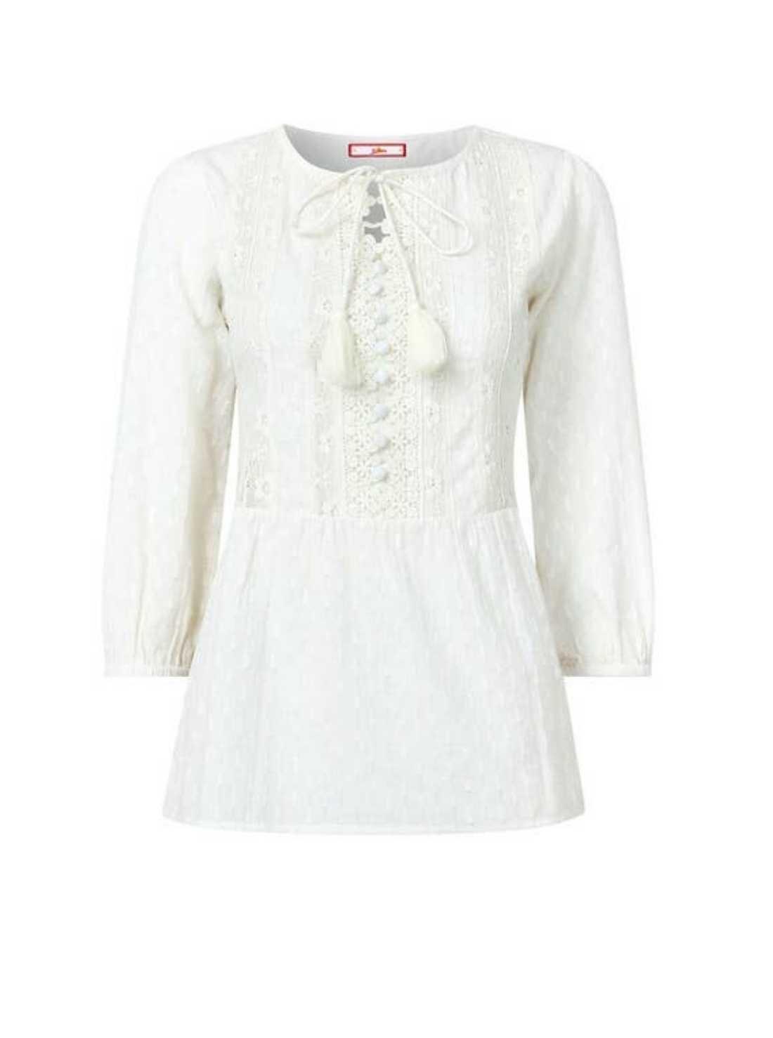 Delicate lace boho blouse