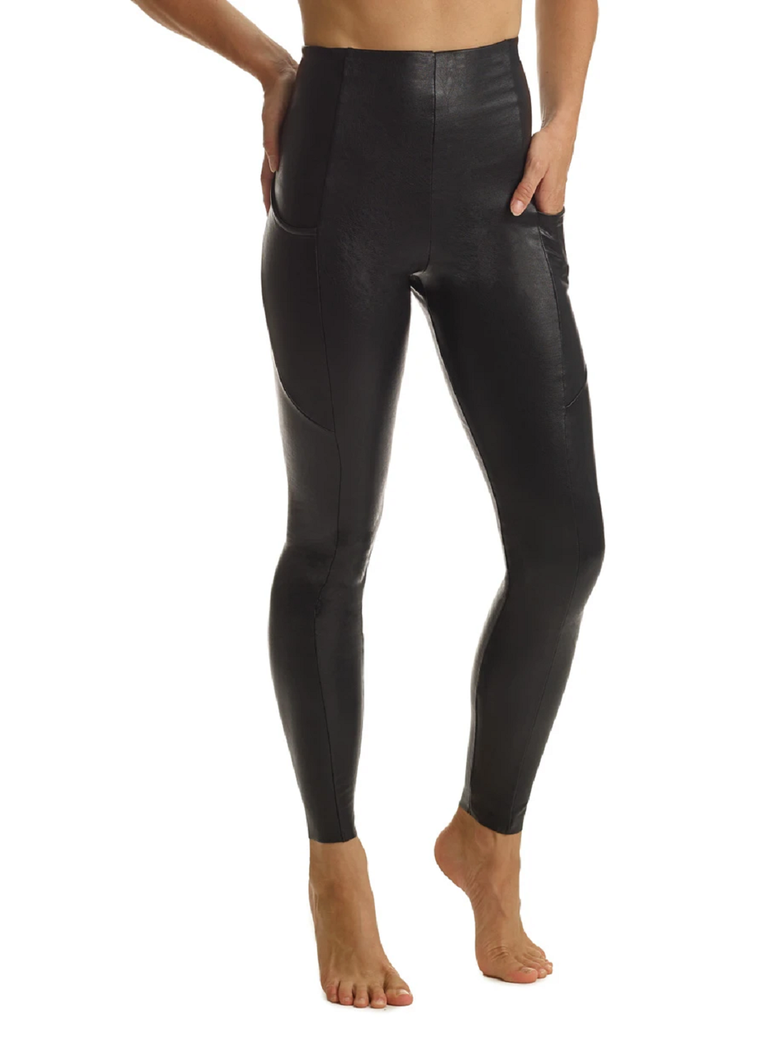 Wholesale Faux Leather Pants with Pockets