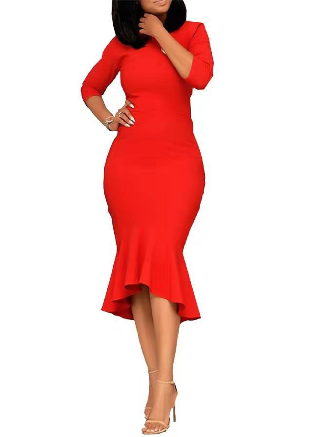 Wholesale Plus Size Red Dress