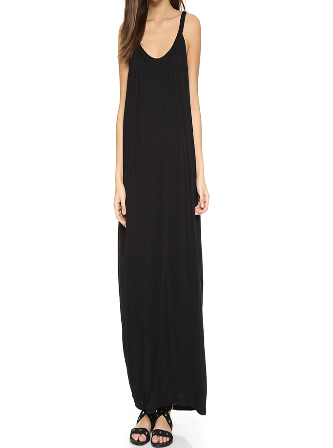 Wholesale Sleeveless Long Black Dress