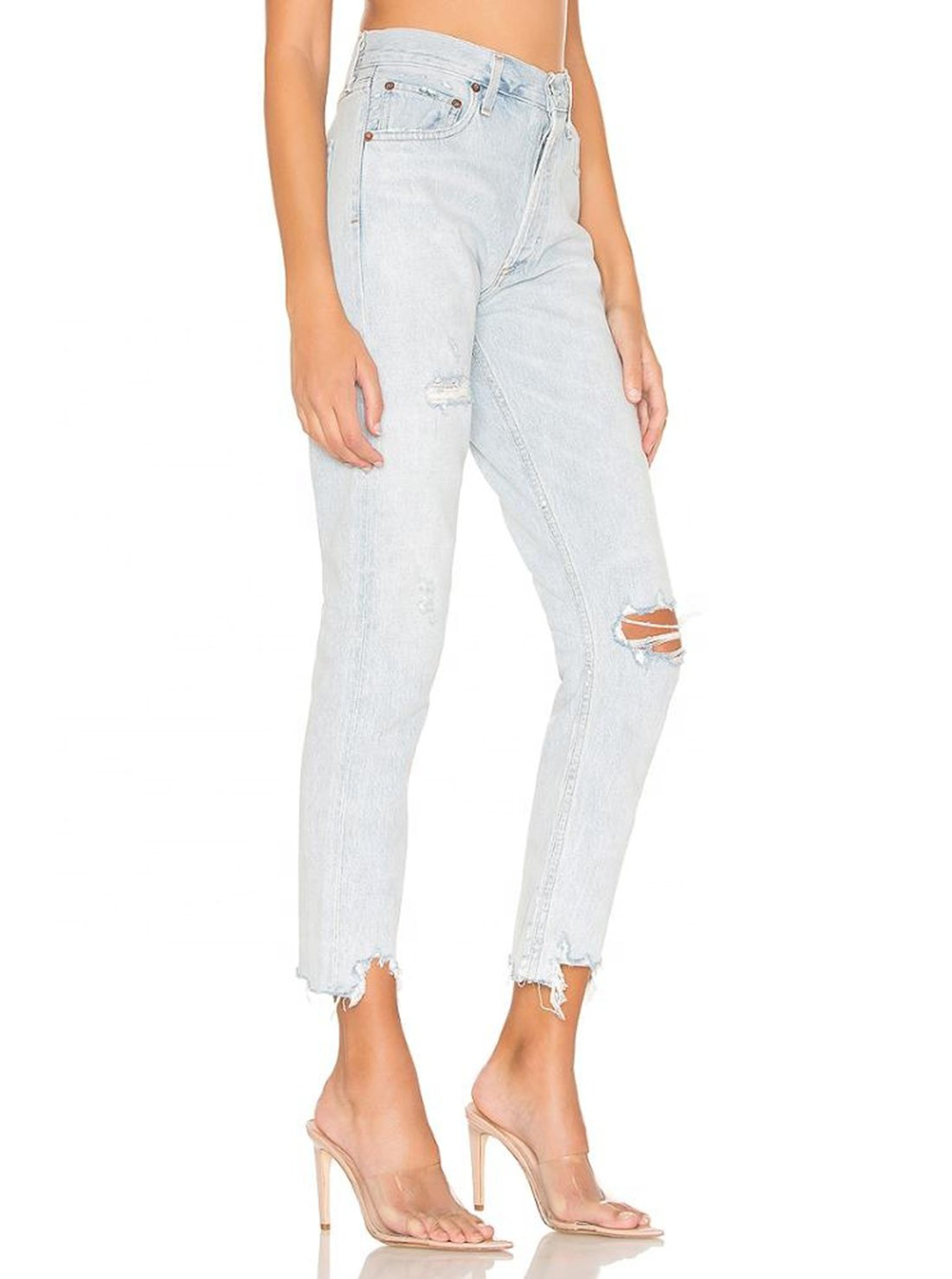 Button Fly Ladies Jeans
