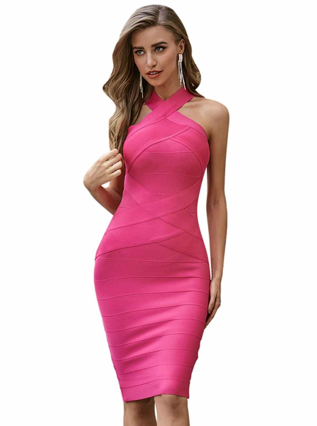 Wholesale Crossover Bands Occasion Dress