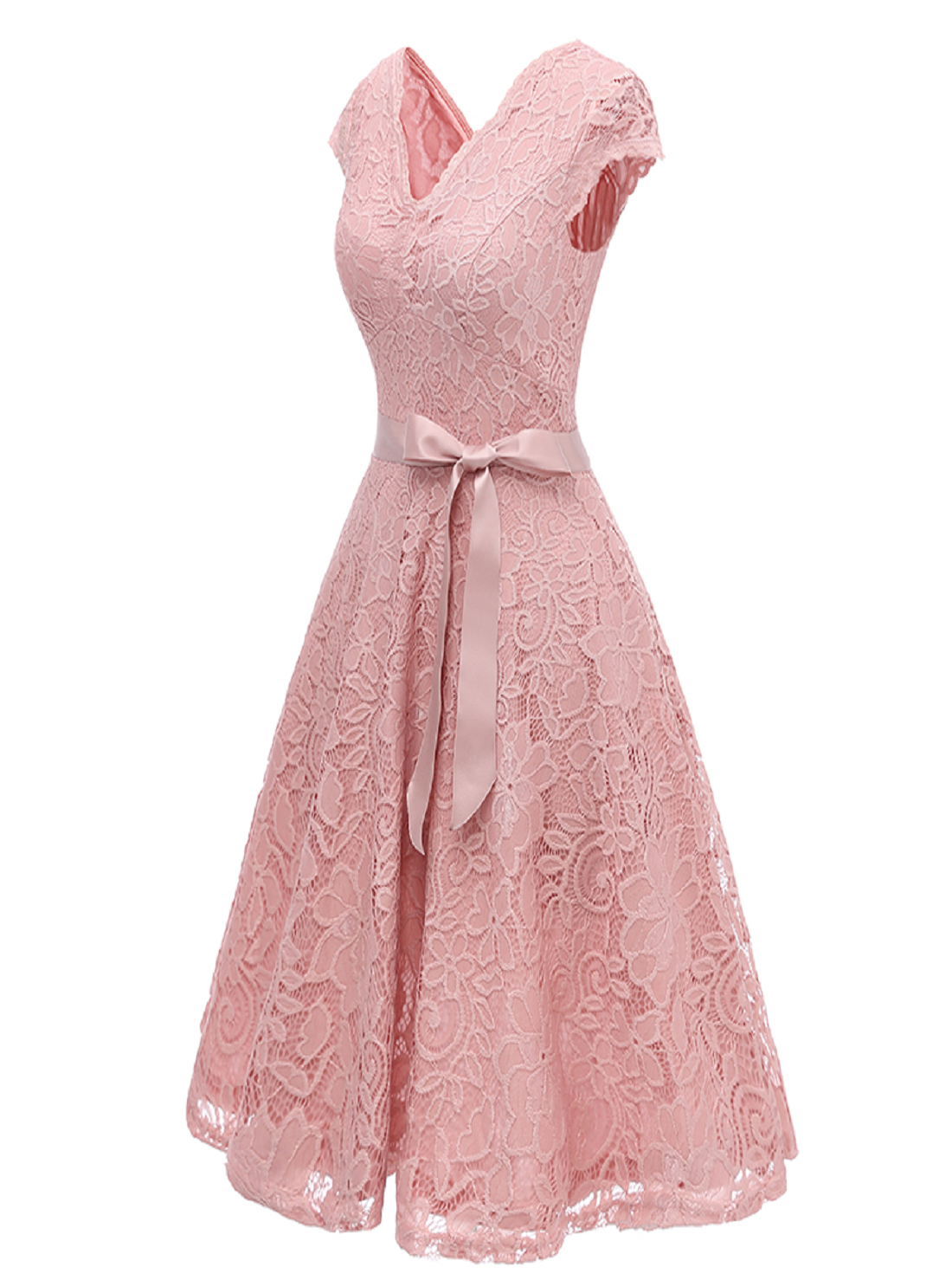 Floral Lace Formal Dress