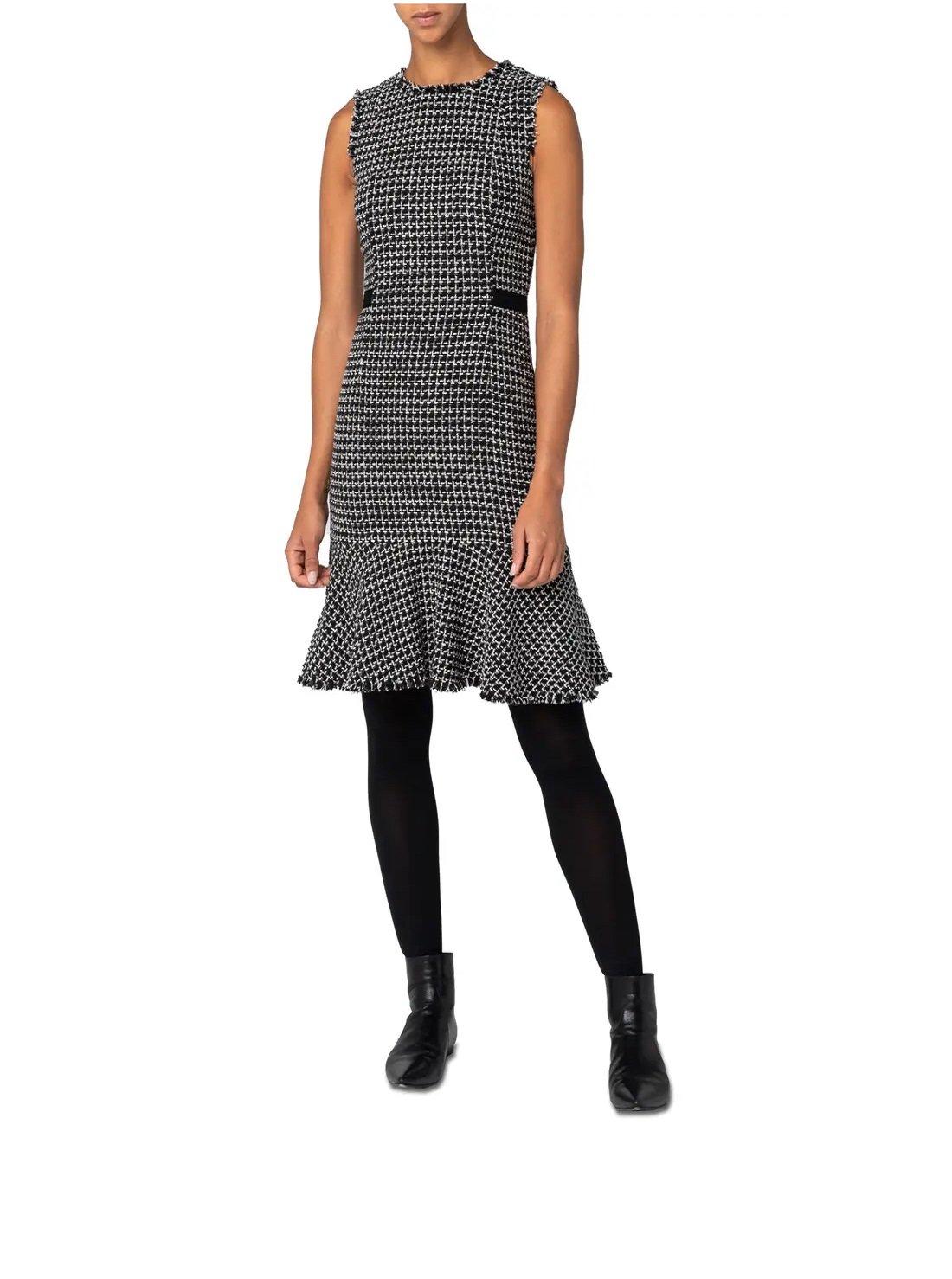 Metallic Tweed Sheath Dress