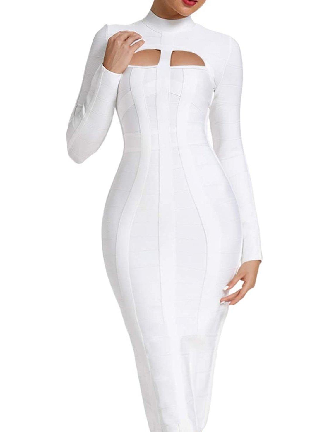 Wholesale Bandage Dress with Long Sleeve