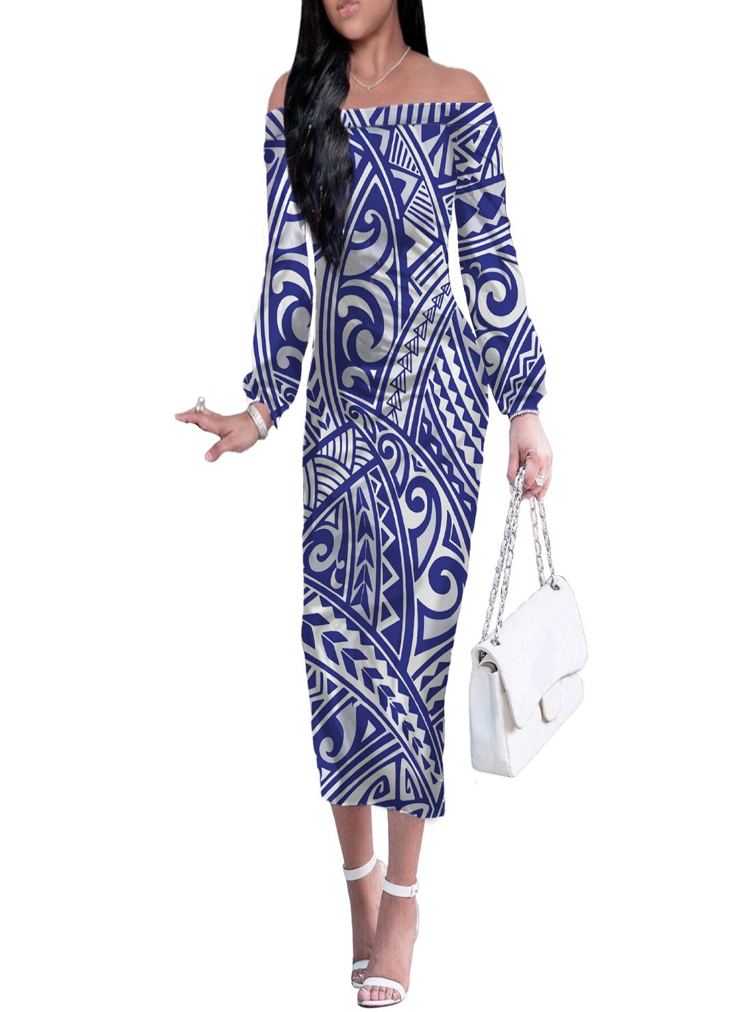 5 Wholesale Long Sleeve Off-shoulder Dresses