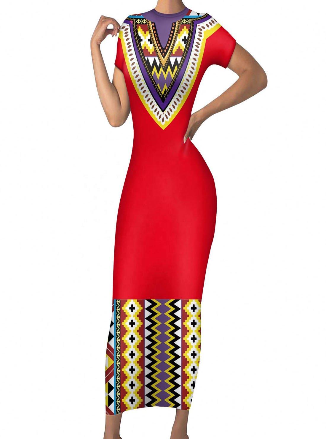 African Print Kente Ankara Style Bodycon Dress