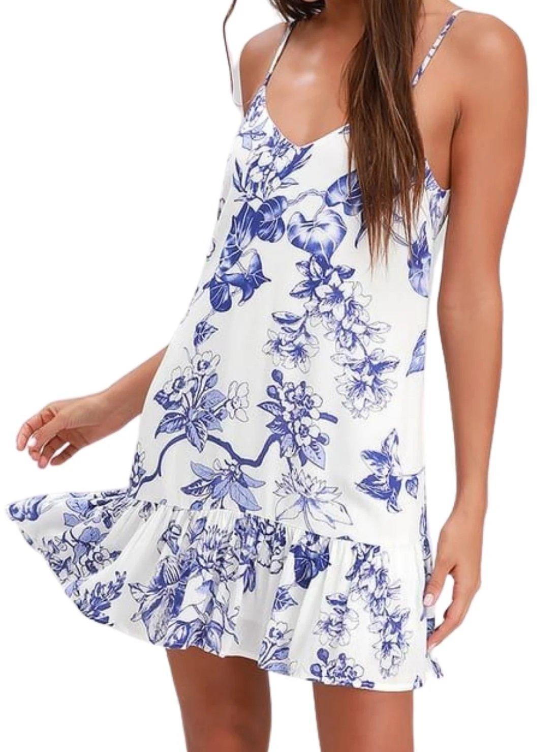 Garden Bloom Floral Ruffled Summer Dress