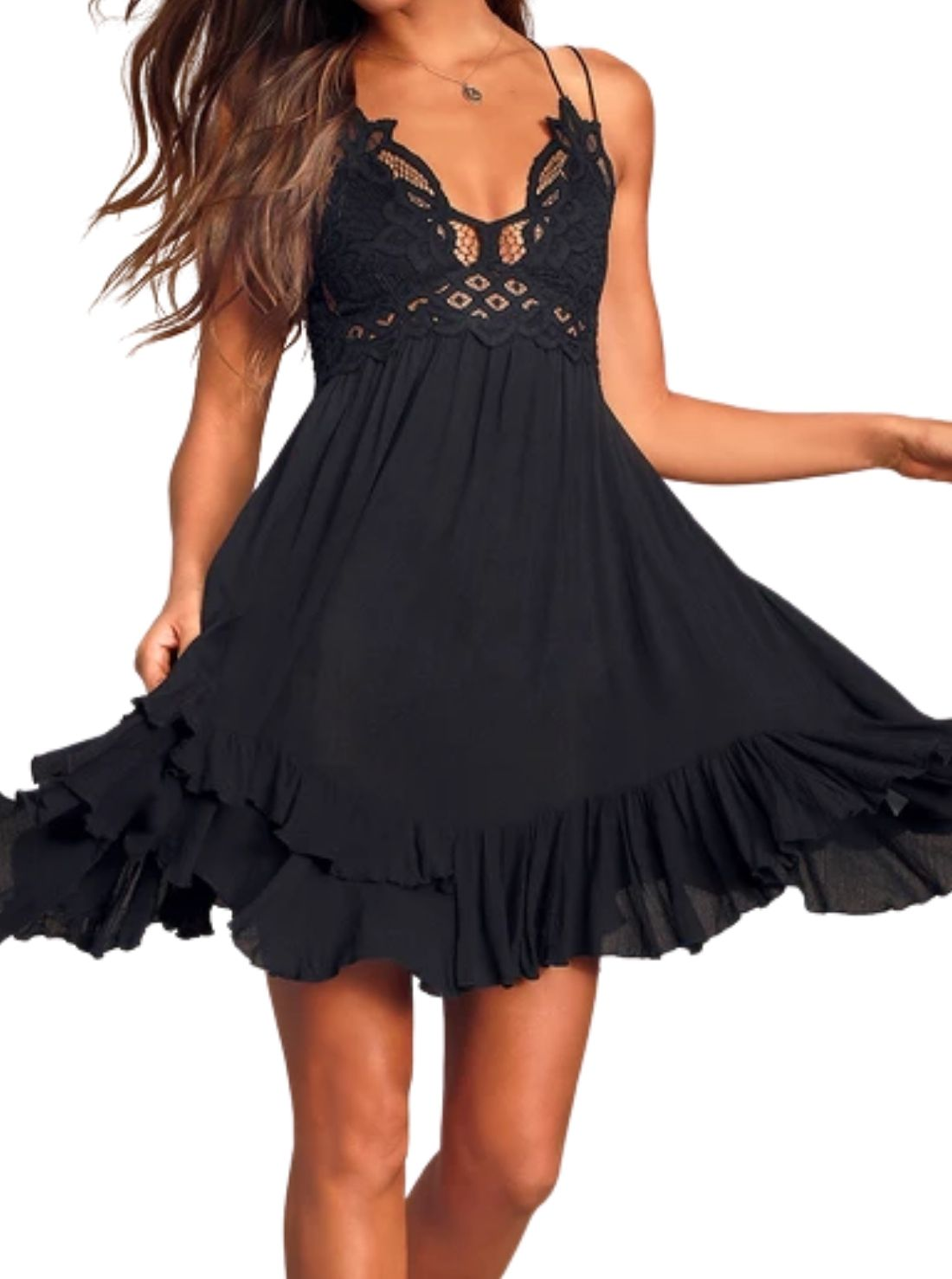 Slip Black Lace Dress